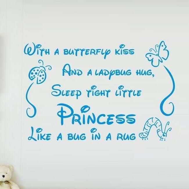 DIY Butterfly Ladybug Quote Wall Sticker Living Room Vinyl Bathroom Bedroom  Decoracion Window Poster Wallpapers Home
