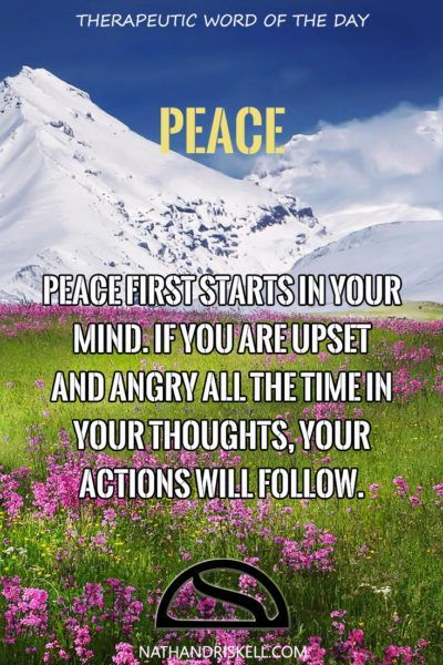 Peace is a very feel good concept. We want peace in the world, peace in our home. We want a sense of security. For there to be real peace, it has to come from within. #peace #life #health http://nathandriskell.com