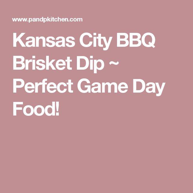 Kansas City BBQ Brisket Dip ~ Perfect Game Day Food!