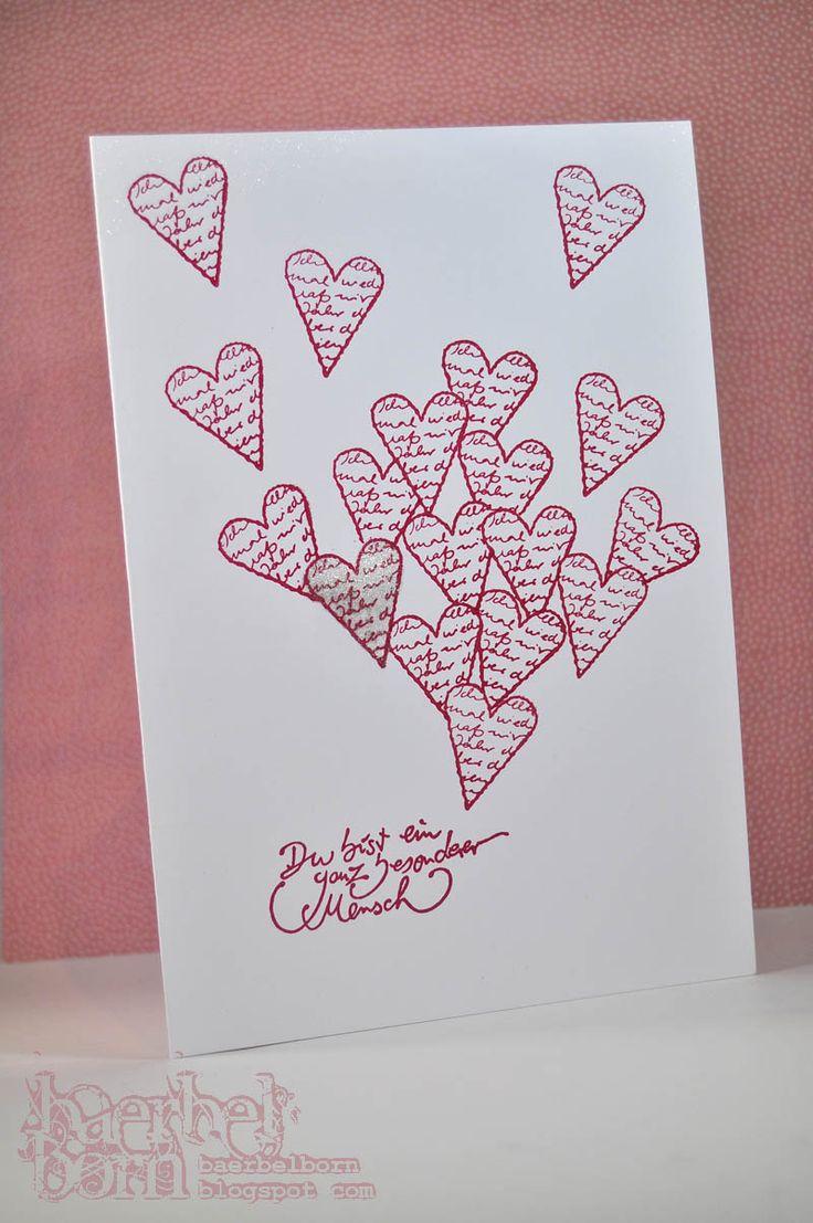 Valentines day card- Valentinstagskarte | Selbermachenguru