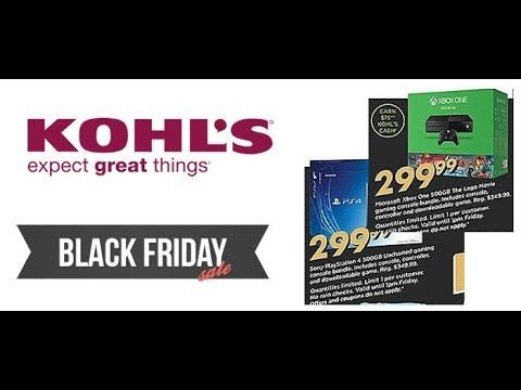 Kohl's Black Friday 2017 Ad | Grab The PS4, TV, Phone, Xbox Black friday...