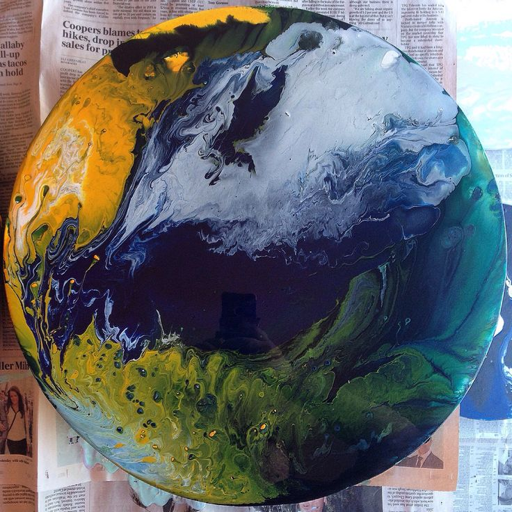 Round Acrylic Artwork - Endless world by HelloSundayDesigns on Etsy https://www.etsy.com/listing/211823329/round-acrylic-artwork-endless-world
