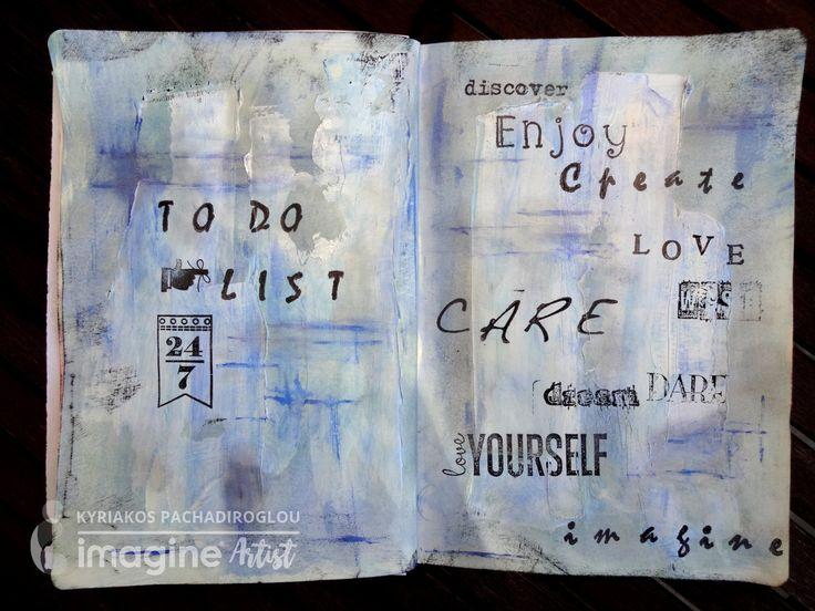 Art journal page – To Do List