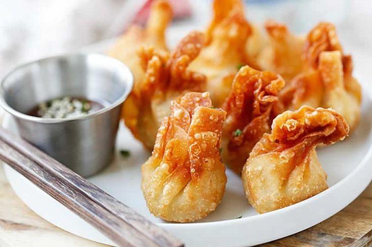 Wontons ou raviolis chinois au thermomix. Voici une recette délicieuse des Wontons ou des raviolis chinois, facile et simple a réaliser avec le thermomix.