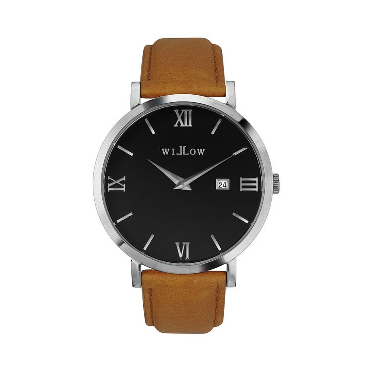 Treviso Silver Watch & Interchangeable Tan Leather Strap.
