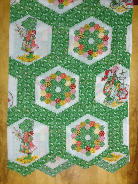Vintage Holly Hobbie Fabric  American by KoopsKountryKalico, $7.00