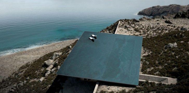 мираж архитектура жительства домик бассейн жилого дизайн остров крошечный архитектор красивый закат