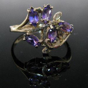 #Vintage #Amethyst #Cluster #Ring 9K €595