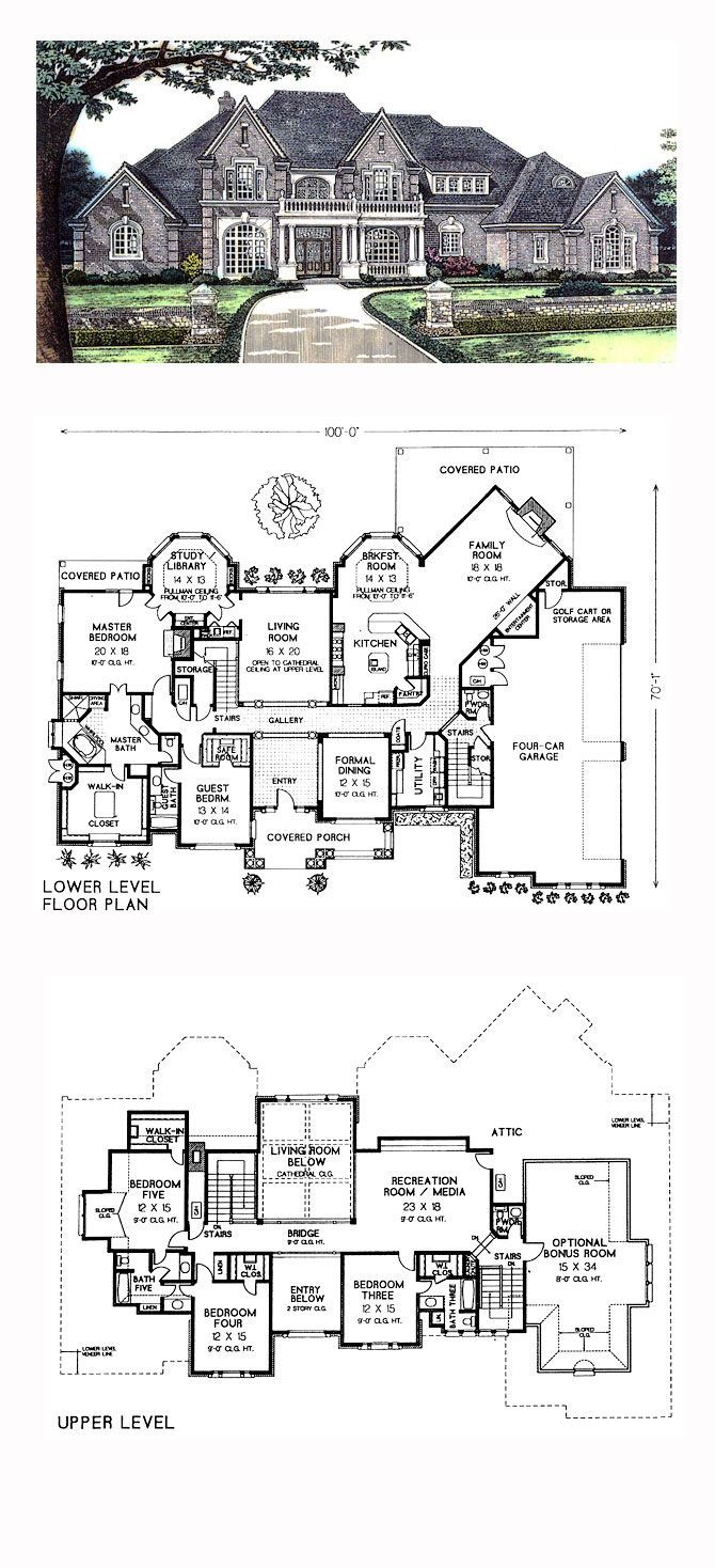 Luxury Cool House Plan Id Chp 30562 Total Living Area