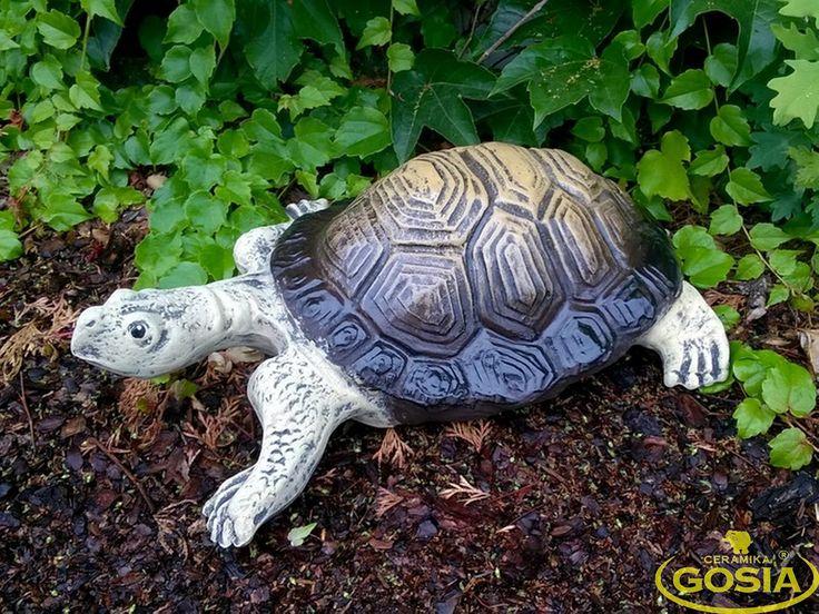 Żółw olbrzymi - figurka ceramiczna ogrodowa
