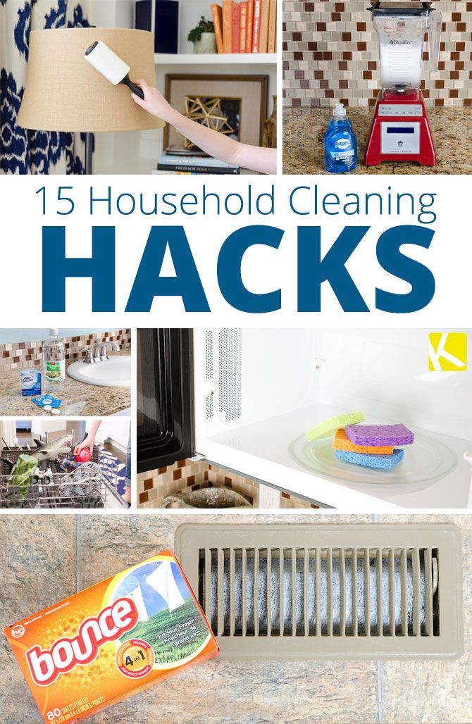 15+Brilliant+Household+Cleaning+Hacks