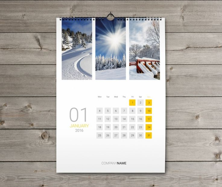 Wall Calendar Design Templates : Wall calendar design template kw w
