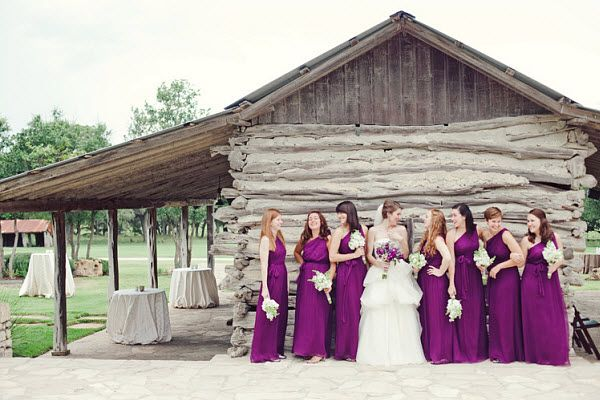 Military Wedding Romance: A Purple Outdoor Wedding - Bridesmaid.