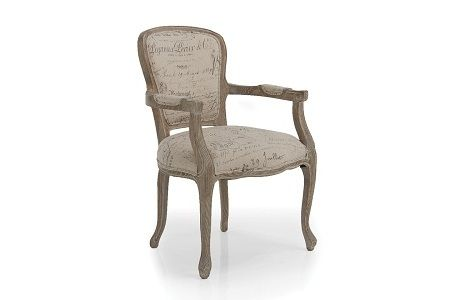 Helena French Arm Chair Natural