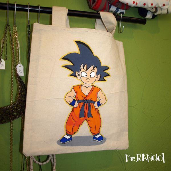 Songokuh Tote Bag de Mr.Rancio! Illustratie por DaWanda.com