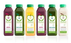 Groupon - Three-Day Juice Cleanse for Pickup, or $ 30 Worth of Juices and More at Peeled Juice Bar (Up to 37% Off)  in Multiple Locations. Groupon deal price: $149