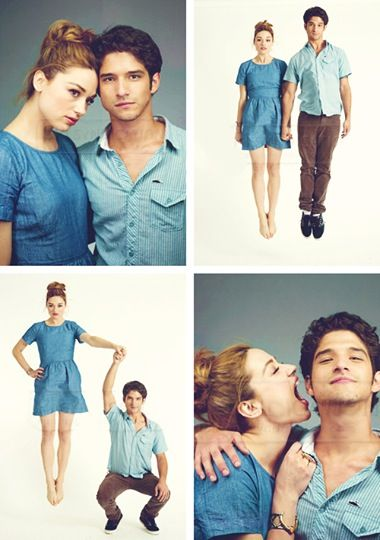 Teen Wolf cast- Crystal and Tyler