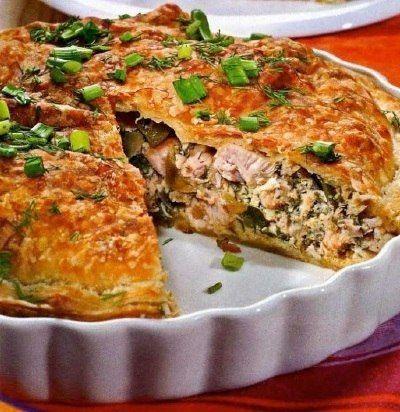 Быстрый и вкусный куриный пирог