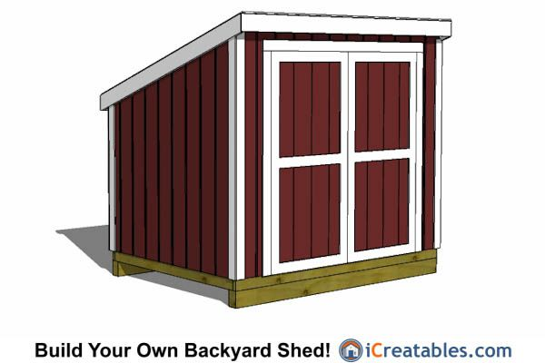 6x8 lean to shed plans with short walls