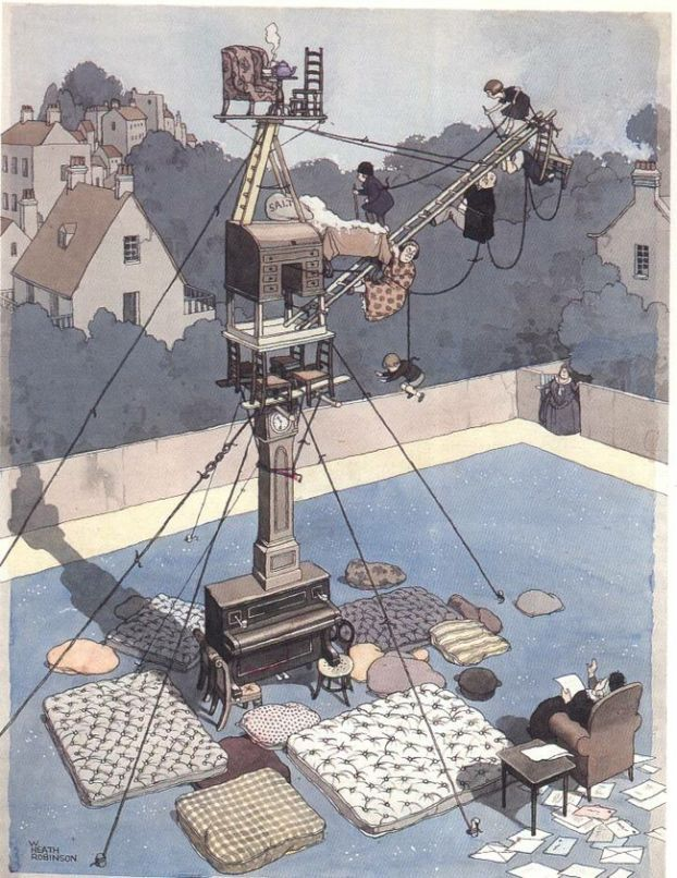 Image detail for -FINE ARTS /// William Heath Robinson's mechanical apparatuses ...