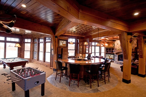 Schmidt Lake Stone Lodge - traditional - family room - minneapolis - by Murphy & Co. Design