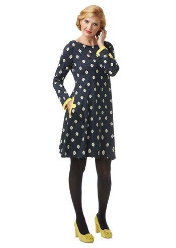 Feminin navyblå kjole Marguerittes Millefleur /blue dress