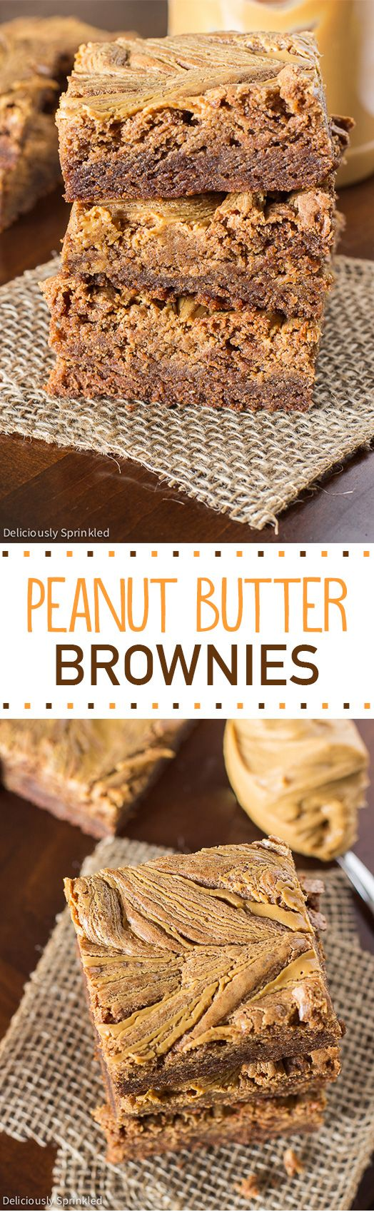 Homemade Peanut Butter Swirl Brownies