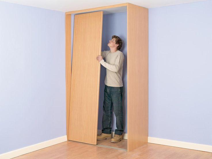 build a closet into the corner of a room bedroom closets diy bedroom