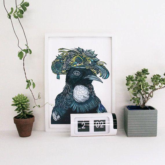 Tui Art Print by ReneeChin on Etsy