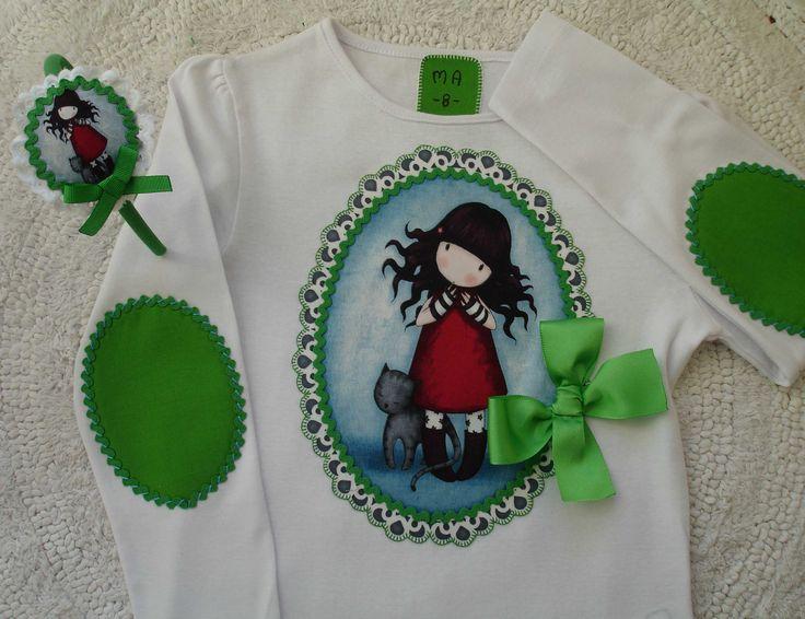 Camiseta Gorjuss en verde