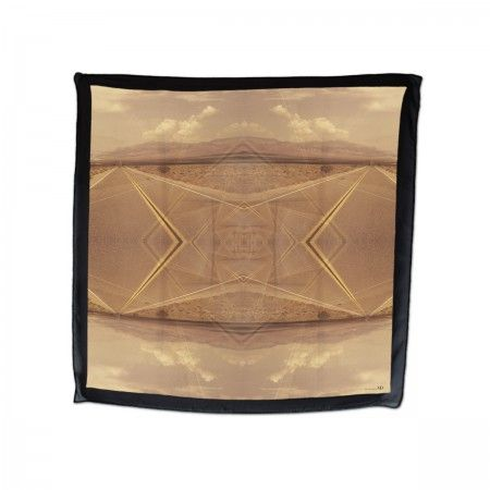 Silk scarf (100%silk, georgette)  DEATH VALLEY print made in Italy