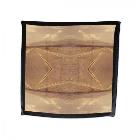 Silk scarf (100%silk, georgette)  DEATH VALLEY print made in Italy