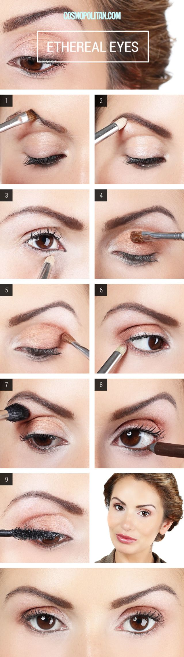 How To Apply Champagne Eyeshadow - Eye Makeup Tutorial
