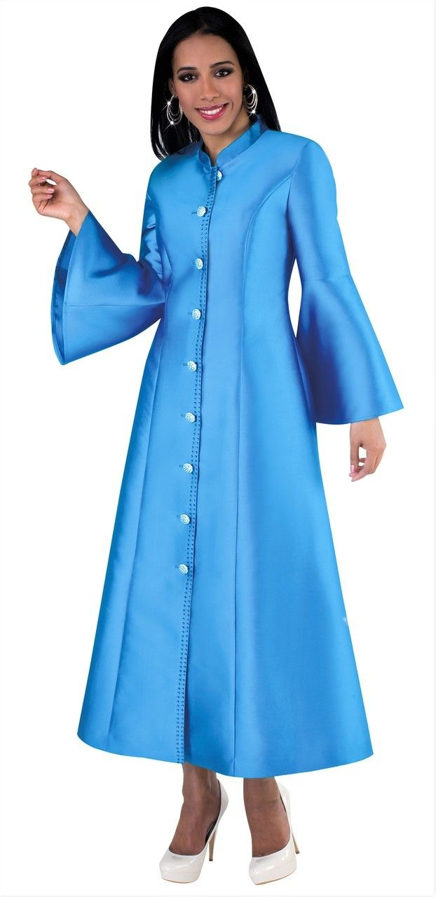 eb7ad977c83 Ladies 1-Piece Preaching Robe Dress - Available In 8 Colors! - Divinity  Clergy Wear