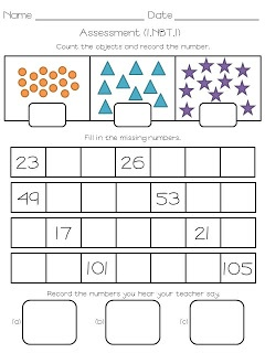 {Numbers to 120} Tons of activities and assessments to help your students identify numbers.