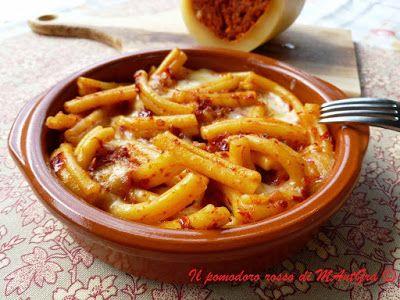 Il Pomodoro Rosso di MAntGra: Caserecce con  Provola e  'Nduja calabrese