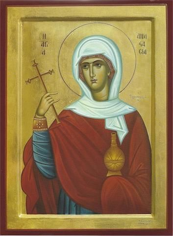 Anastasia the Great Martyr, the Delivered from the Potions icon (3)
