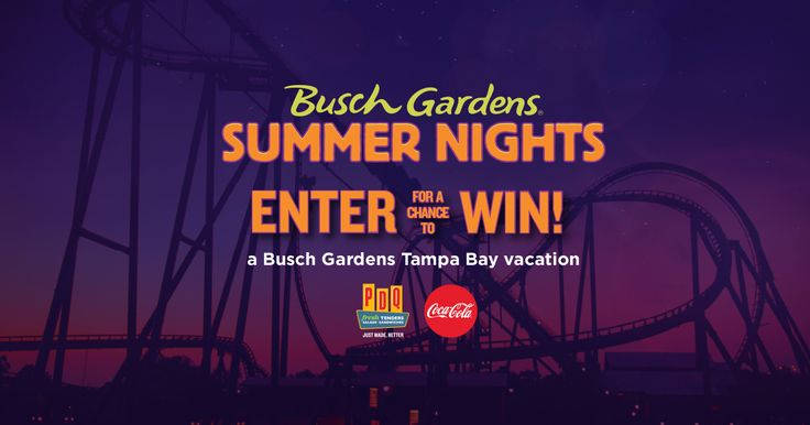 Enter for your chance to win a Busch Gardens Tampa Bay Prize Package for 4, including park tickets, hotel accommodations and more!