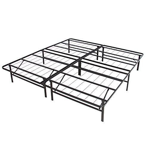 ltl platform black metal bed frame foldable needed mattress foundation queen you can find