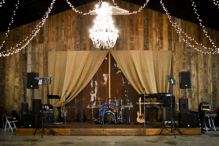Band Stage For Reception At Our Barn Wedding Venue In Alabama Whiteacresfarms