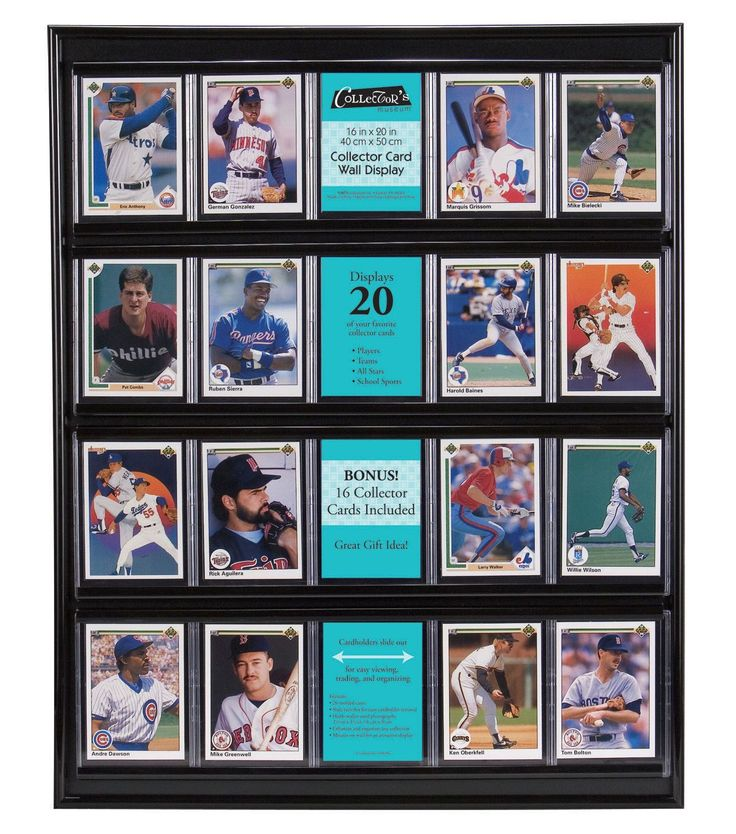Baseball Card Display Plastic Black