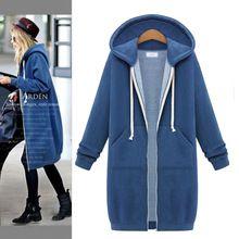 Autunno inverno donna lunga con cappuccio, cappuccio allentato donna con cappuccio sweatershirt plus size tuta sportiva sport vestito casuale lungo cappotto giacca