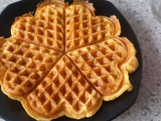 Cornmeal Waffles - Simply Filling!!!  Top with fresh fruit and a tiny bit of agave.