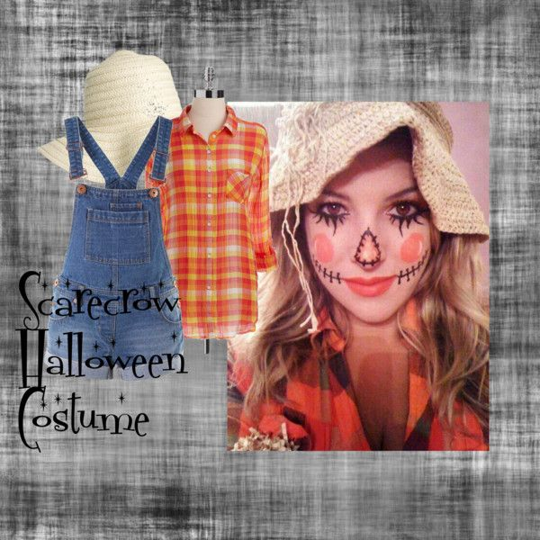 """Scarecrow Halloween Costume"" by amorsubio on Polyvore  I think I wanna be this for my work halloween party :)"