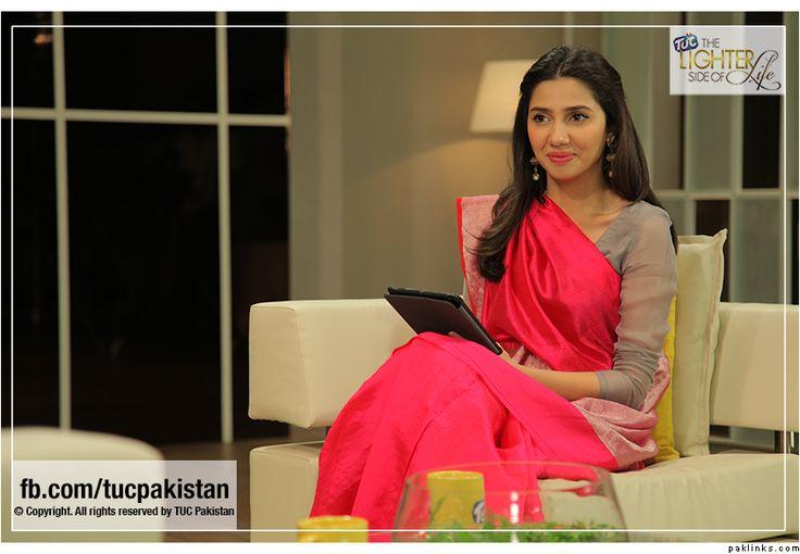 Mahira Khan // Magenta sari w/ a taupe blouse.