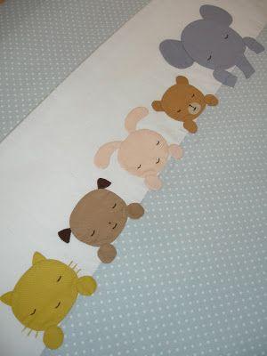 Adorable applique on a baby quilt!  Aprende todo sobre de los bebes en Somos Mamas.  http://www.somosmamas.com.ar/