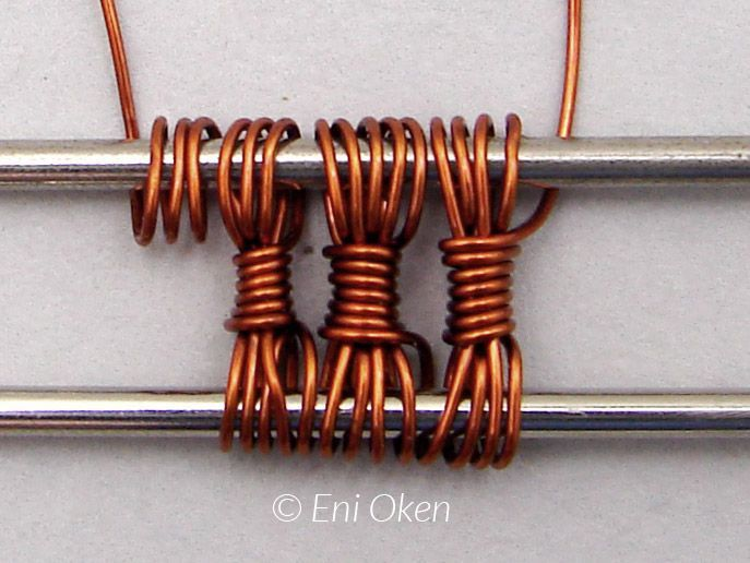 "Tutorial DIY Wire Jewelry Image Description Are you ready for more complex wire wrapping weaving? Get this ""must have"" tutorial by Eni Oken."