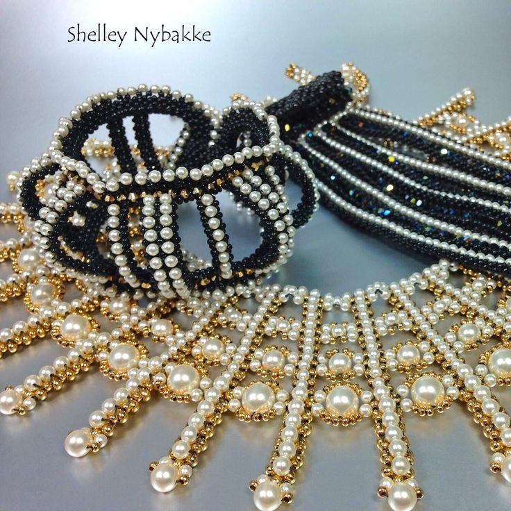 Love Swarovski pearls and crystal bicones.