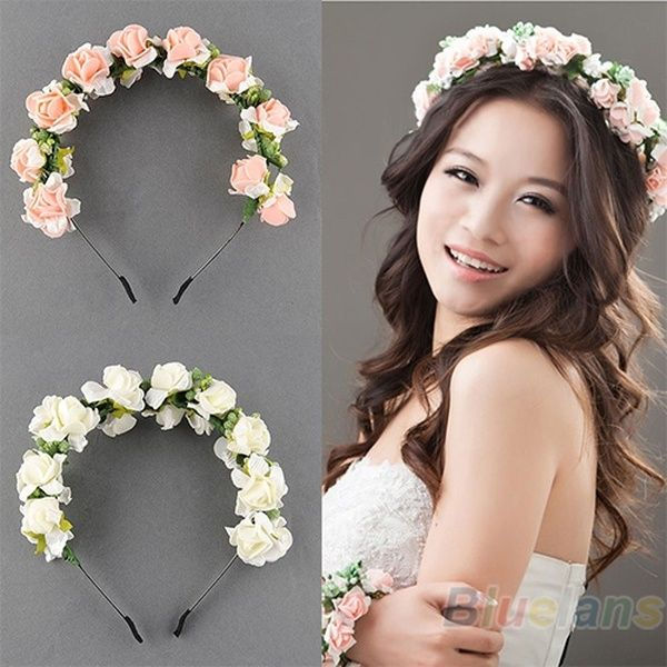 Flower Headband Hair Band Head Garland Crown Festival Wedding Hair Accessories X