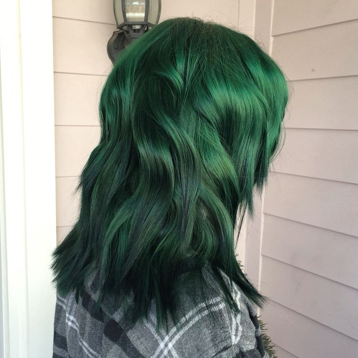 Forest green hair with pravana vivids